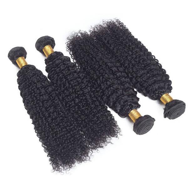 kinky curly human hair bundles hairs Real person Hairs extension Bundles Brazilian Virgin Hair Bundles with Closures Natural color 100g