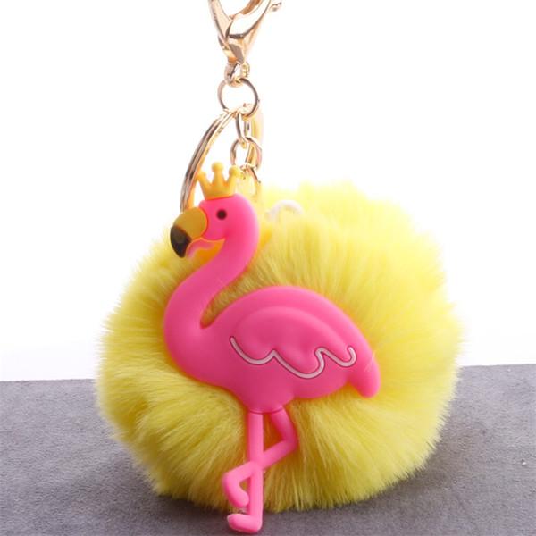Erkekler Kadınlar Rex Tavşan Flamingo Anahtar Toka Renkli Metal Alaşım Silikon Kolye Çanta Otomobil Emperyal Taç Kuş Anahtarlık 3 1qs ff