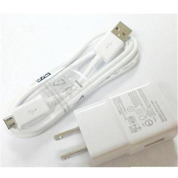 2 en 1 kits cargador 5V 2A cargador de pared Adaptador de carga rápida + 1M Micro USB Cable V8 cable de sincronización de datos para Samsung S3 S4 S5 S6 S7