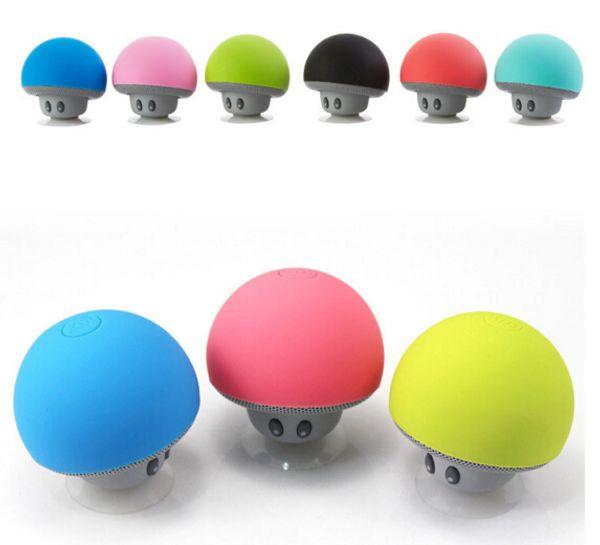 Mushroom Bluetooth Speaker Car Speakers with Sucker Mini Portable Wireless Handsfree Subwoofer Free Shipping