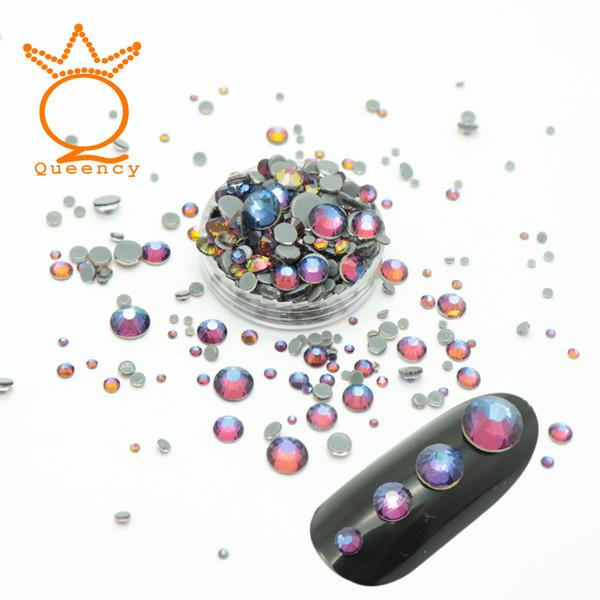SS3-SS30 Mix Size Rhinestone Nail Art Designs Hix Crystals Diamond Stone For Nails Art Decoration 3d Charm Nail Gems