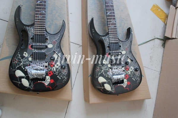 Wholesale High Quality JEM 7V black and Pattern fingerboard Electric Guitar, Free shipping