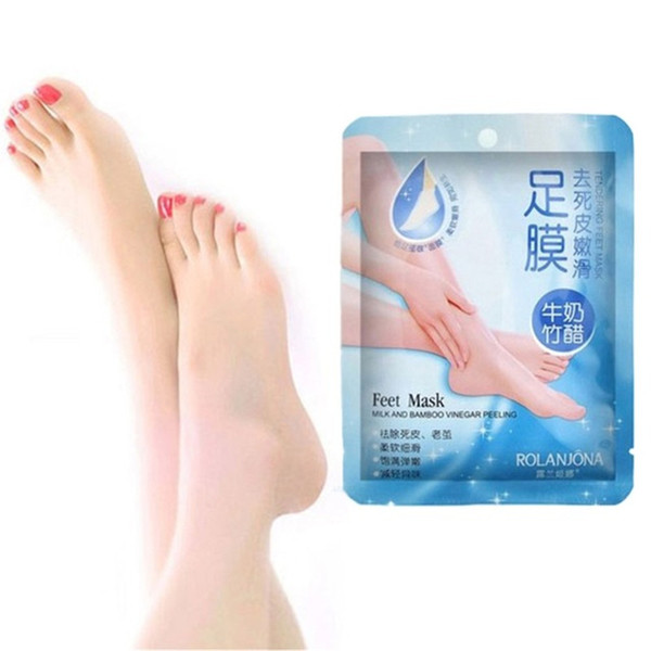Milk bamboo feet mask vinegar peeling tendering foot mask Exfoliation Feet Spa Dead Skin Cuticle Remover Heels care Exfoliating Foot Mask