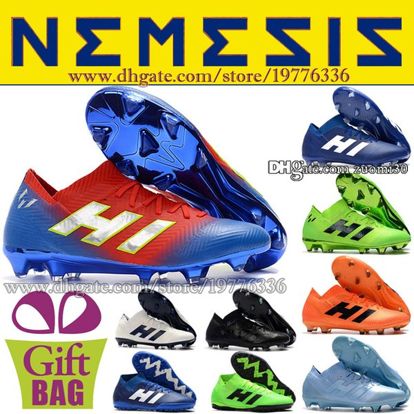 Cheap Leather Football Boots TF IN Nemeziz 18.3 Indoor Soccer Shoes Football Boot Turf Soccer Cleats Messi Football Shoes Size 6.5-11.5