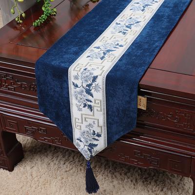 pivoine bleu foncé 150 x 33 cm
