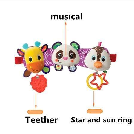 SOZZY Melody Müzik Işık Bebek Oyuncakları Ses Çıngıraklar Çocuk Asılı Strollers Araba Yüzük Geyik Panda Penguen Yatak Koltuk Diş ...