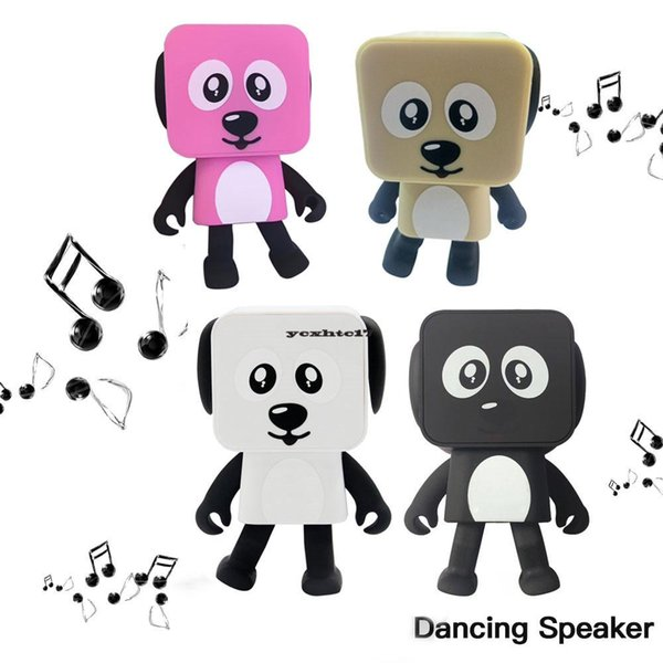 1PCS Portable Wireless Bluetooth Stereo bass Loudspeaker Small Square Dancing Robot Dog Sound Bass Music Speaker