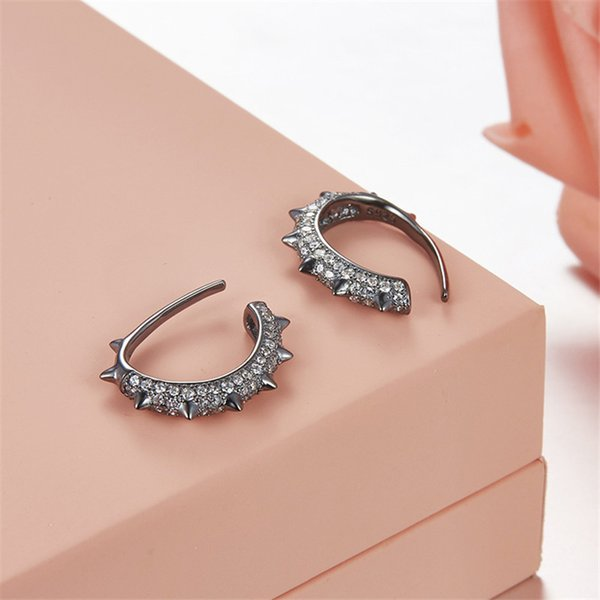 High Quality 925 Sterling Silver Clip On Earrings Fine Jewelry No Piercing Fashion Punk Ear Cuff Earrings Drop Shipping With Box C18110801