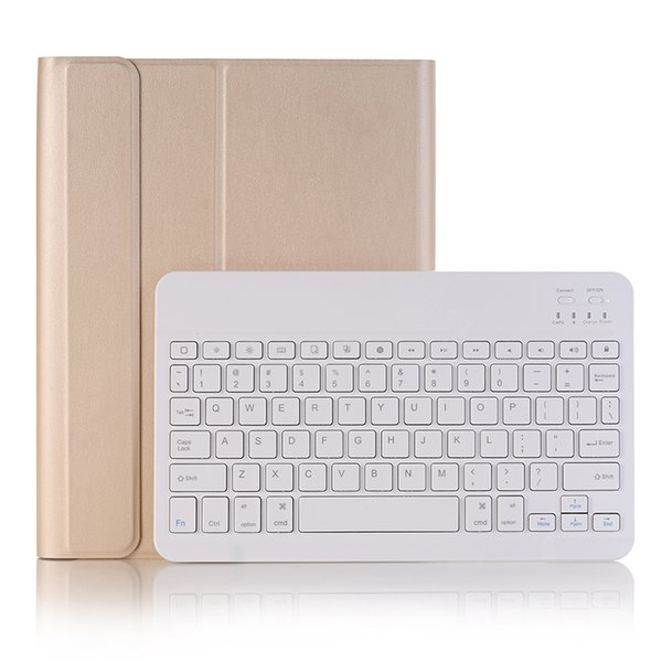 Ultra Thin PU Leather Case with Portable Wireless Bluetooth ABS Keyboard for Apple iPad Pro 10.5 inch +Stylus A09B