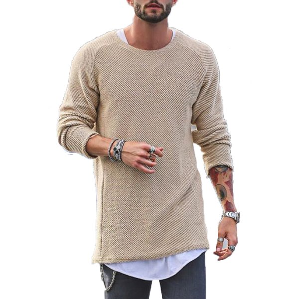 Winter Sweater Men Autumn New pullover Slim Fit Solid Thin Mens Knitted Sweaters Male Curl Hem Fashion Men's Tops S1015