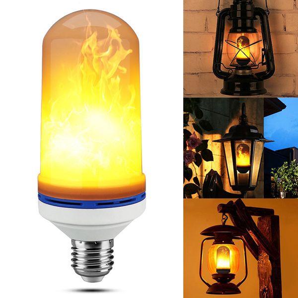 Efecto de llama LED Bombilla E27 6W LED Simulado parpadeo Vintage Flame lámparas para Bar Xmas Holidays Festival decoración
