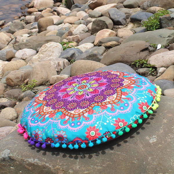 Magical Colorful Style Pillow Cover Round Indian Mandala Pattern Pillowcase Bohemian Cushions Pillow Case