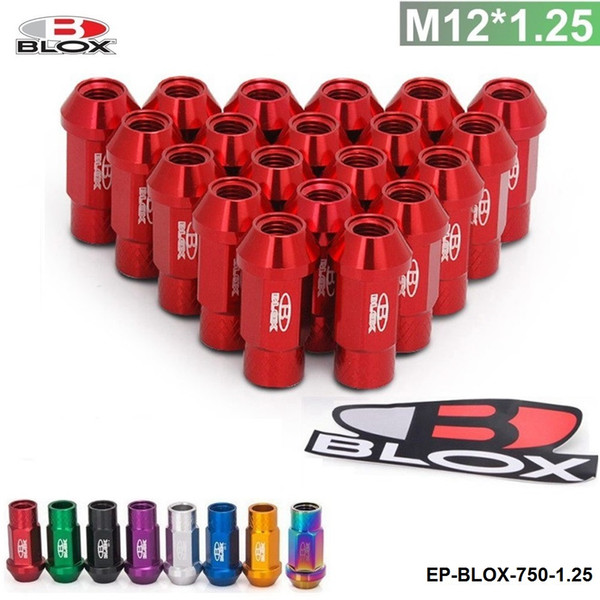 best selling Tanskyturbo -- Blox Forged 7075 Aluminum Lug Nuts P 1.5, L:50mm Blue,Red,Purple,Golden,Black,Silver,Green TK-BLOX-750-1.5