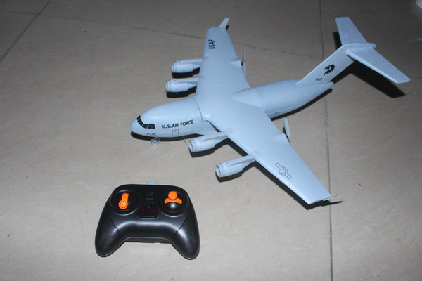 best selling 2CH C-17 c17 Transport Wingspan 373mm EPP DIY RC Airplane RC TOYS PLANE Brushed 2.4GHz Axis Gyro RTF TOYS PLANE