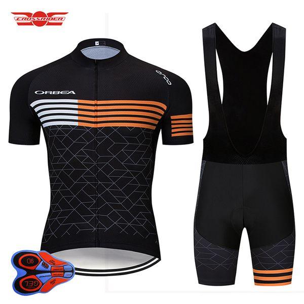 2019 Pro Team Orbea Radtrikot Set MTB Uniform Quick Dry Fahrradbekleidung Fahrradbekleidung Herren Short Maillot Culotte Anzug