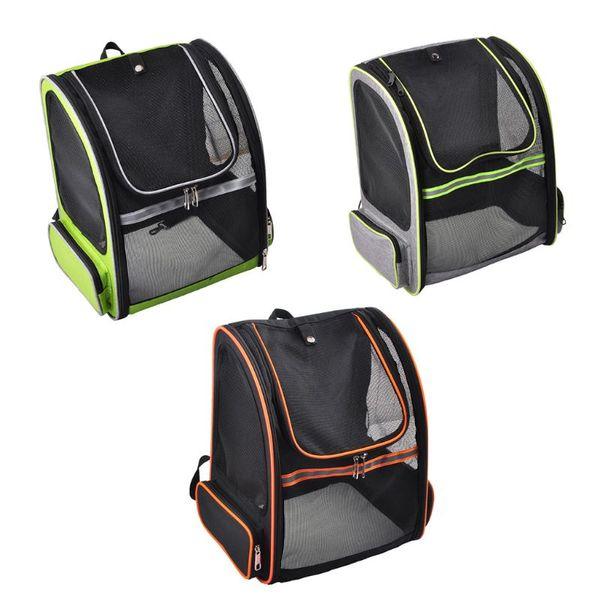 Pet Carrier Breathable Mesh Carry Cat Dog Puppy Shoulder Backpack Travel Portable Bag