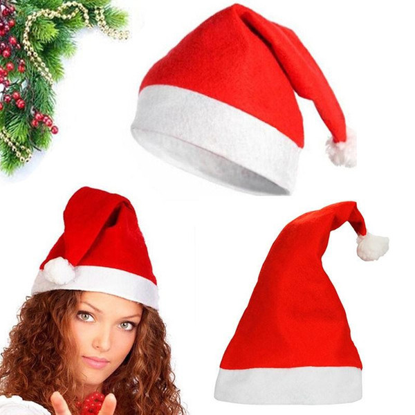 best selling Red Santa Claus Hat Ultra Soft Plush Christmas Cosplay Hats Christmas Decoration Adults Christmas Party Hats