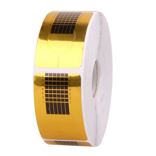 500Pcs Nail Art Sculpting Extension Forms Nail Guide Sticker Tape Forms Guide Sticker Acrylic Tape UV Gel Tip Manicure Tool