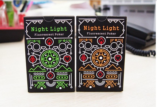 New Cartoon Creative poker playing cards night luminous fluorescent light Fun Table board game