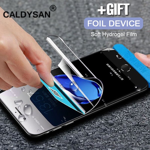 Full Cover Soft Hydrogel Film For IPhone X 6 6s 8 7 Plus 10 Screen Protector Film Protective Film Not Tempered Glass + tool
