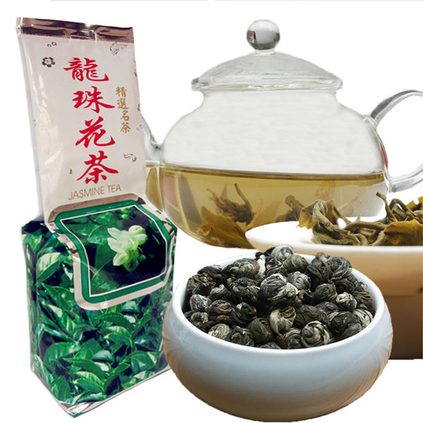 best selling 250g Chinese Organic Green Tea Fragrant Dragon pearl Flower Tea Health Care New Spring Tea Green Food Factory Direct Sales