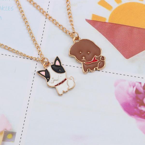 Cute Dog Necklace For Women Animal Puppy Doggy Pendant Kawaii Corgi Teddy Dog Necklaces&Pendants Christmas Xmas Children Gifts