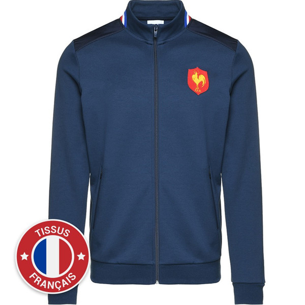 2019 2019 XV DE FRANCE HOME RUGBY JERSEY 1819 SWEAT PRESENTATION XV DE FRANCE France Rugby T Shirt XV DE Jacket JERSEY Size S M L XL 3XL From