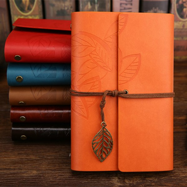 18.5*13cm Vintage Diary Notebook Pirate Anchor Decor Traveler's Note Books Notepad Planner 2018 PU Leather Cover Blank Notebooks 6 Colors