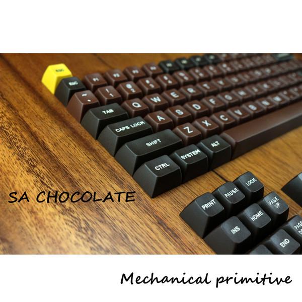 Compre Chocolate Para Colorear 123 Keys Sa Pbt Keycap Fonts Keycap Cherry Mx Cambiar El Teclado Para El Teclado Mecánico Con Cable Usb Para Juegos A