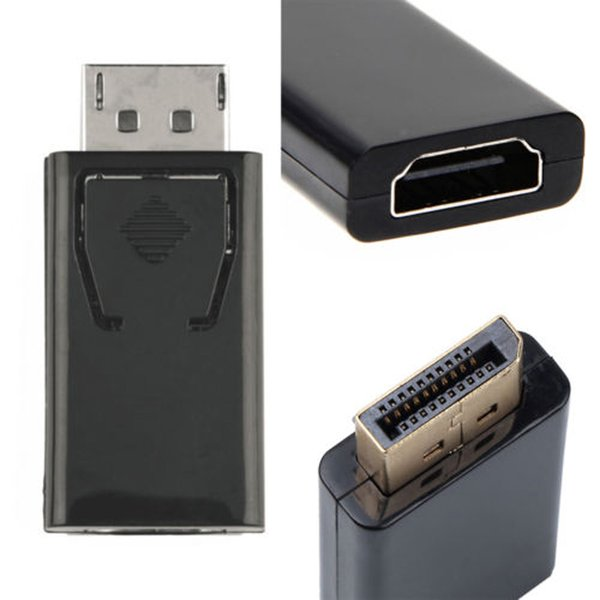 Display Port to HDMI Male Female Adapter Converter DisplayPort DP to HDMI 1080P Connector Adapter For Laptop Monitor HD HDTV