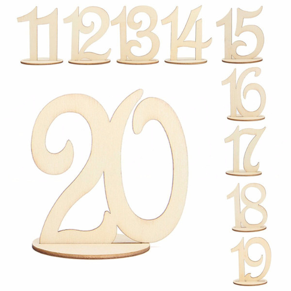 Number Set Wooden Cards 1-10 and 11-20 Wedding Supplies Rustic Table Centerpiece Decoration Wedding Engagement Party Decor Gifts
