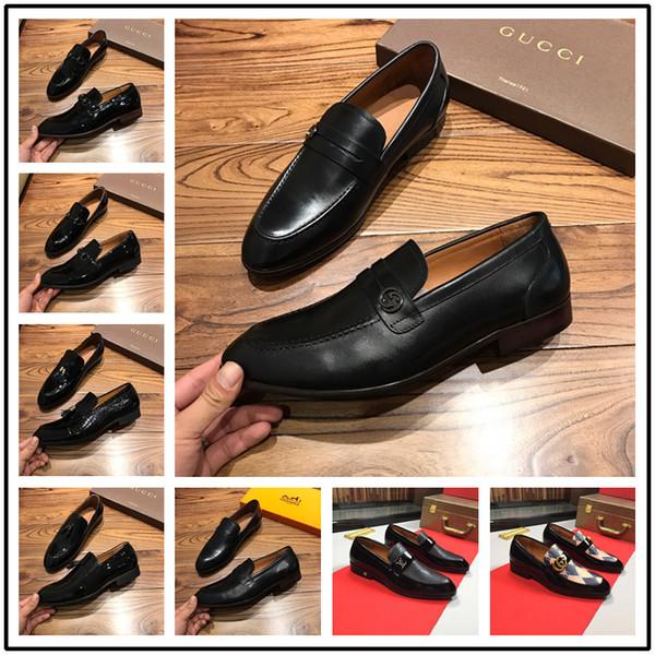2018 mens hakiki deri elbise ayakkabı yüksek kaliteli İtalyan tasarım ve El-cilalı erkekler ayakkabı
