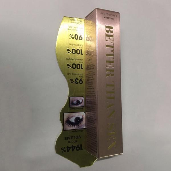 Em estoque! Volume Rímel Rosa de ouro Melhor Do que o Rímel Mascara de Alta Qualidade Legal Preto Mascara DHL navio livre 60 pcs