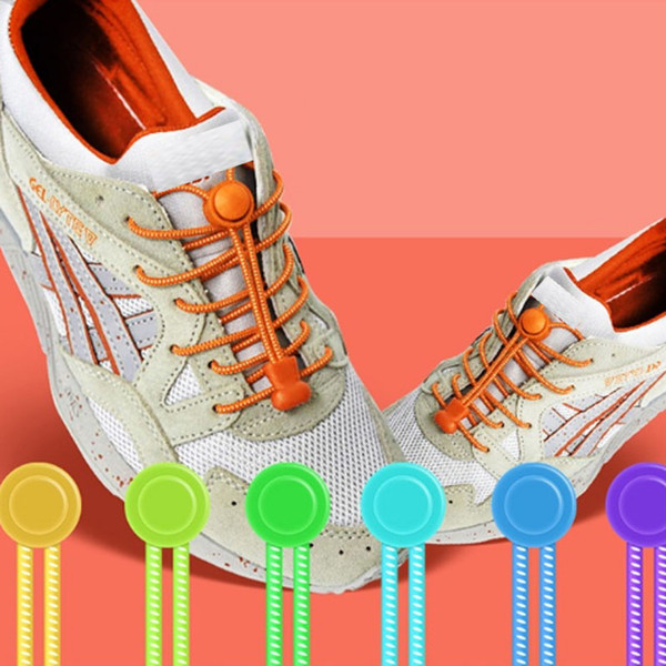 Stylish Elastic No Tie Shoelaces Unisex Lazy Mixed Color Round Shoestrings for Kid and Adults Sneakers Sport Shoes