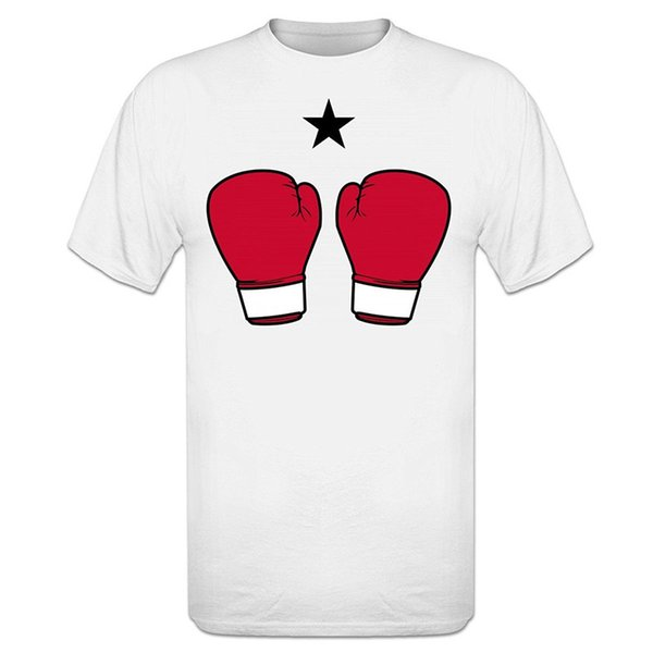 Create Your Own Shirt Design Tee Shirts For Sale Short Printed Boxinger Gloves Star O-Neck Mens Tee