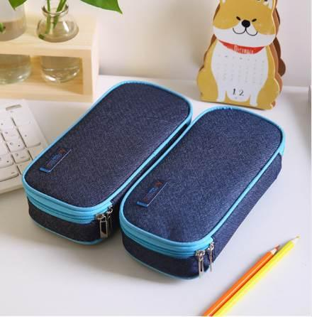 best selling Korea Multifunction School Pencil Case & Bags Large Capacity Canvas Pen Curtain Box For Boy Students Gifts Stationery Supplies
