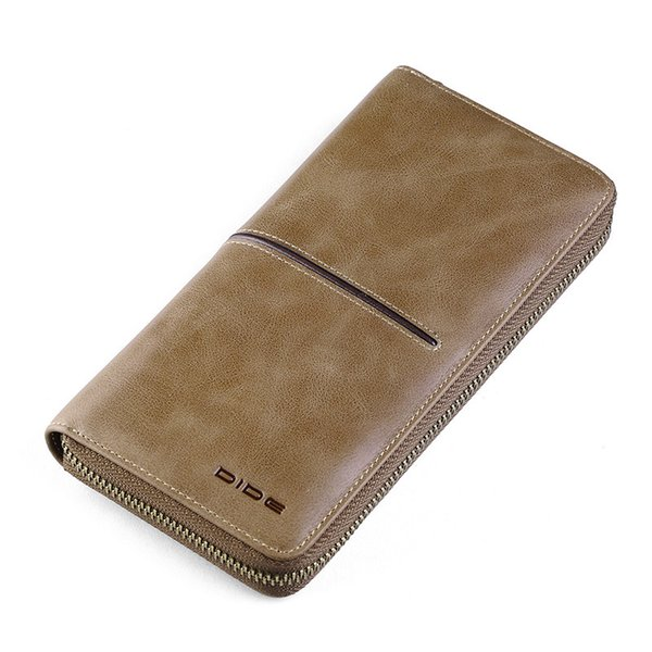 High Quality Business Wallets Genuine Leather Men Clutch Wallet Coin Purse Male Walet Carder Holder Organizer Wallet Gift