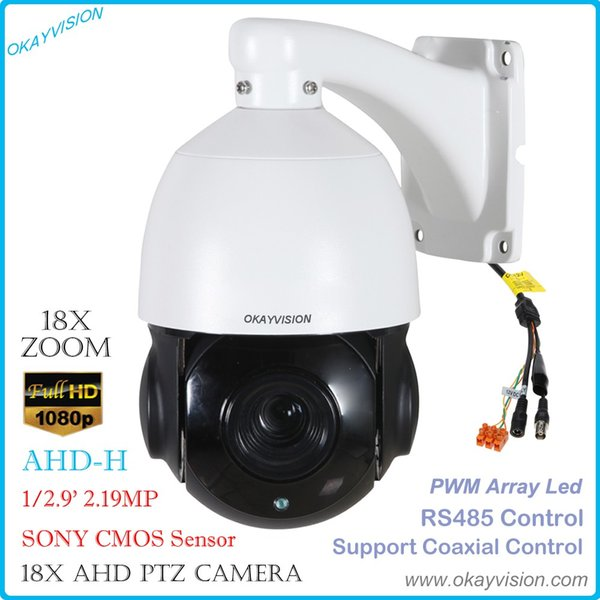 okayvision 2.0MP AHD Speed Dome Camera outdoor Pan/Tilt 18X optical Zoom 1080P AHD ptz camera support RS485; XM coaxial Control