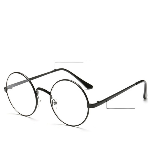 8a2c0f47440 Vintage Unisex Retro Style Round Metal Frame Clear Lens Glasses Optical  Spectacles Casual Eyewear Plain Glass Drop ship