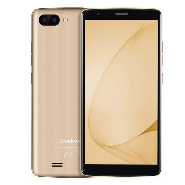 Cheap 3G WCDMA Blackview A20 Quad Core MTK6580 Android GO 5.5 inch IPS 960*480 HD 18:9 GPS WiFi 5.0MP Dual Rear Camera 3000mAh Smartphone