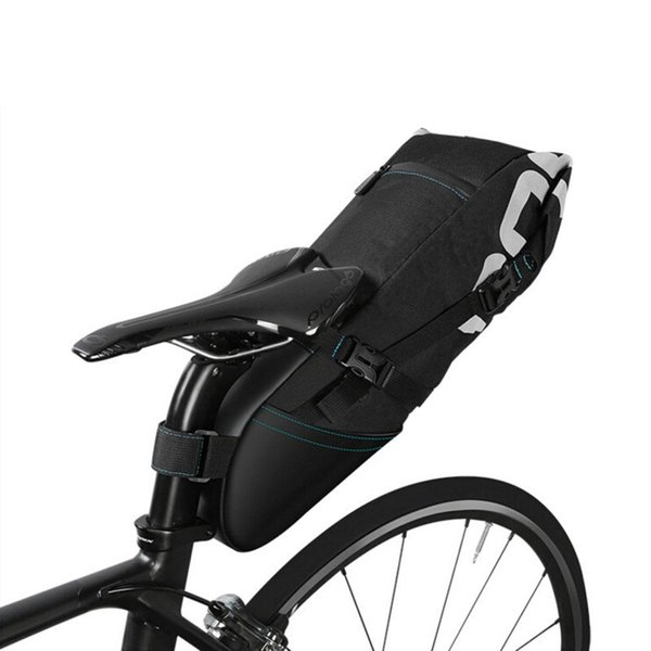Waterproof Bike Saddle Bag Large Bicycle Tail Seat Bag TPU + Polyester Cycling Rear Pannier Bike Accessories 10L