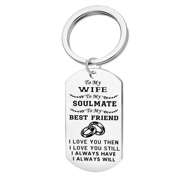 to my wife keychain