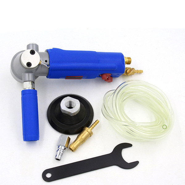 Free Shipping Water Jet Pneumatic Grinder 3 or 4 Inch Marble Jade Stone Floor Air Polisher Sander Grinding Tool Three Gear Speed Adjust
