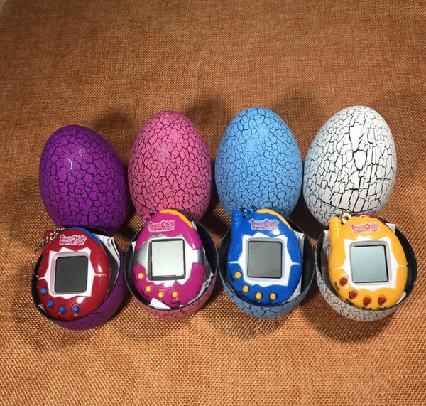 top popular NEW Toy with a keychain EDC Multi-color Cartoon Surprise Egg Electronic Pet Mini Hand-hold Game Machine, a Gifts Toy WJ 003 2019