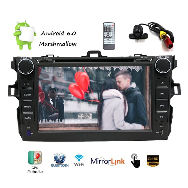 7''Android6.0 Car Navigation Stereo in Dash 2 Din Car DVD Player Quadcore 1080P Headunit FM/AM/RDS Radio GPS Navigation WIFI/bt