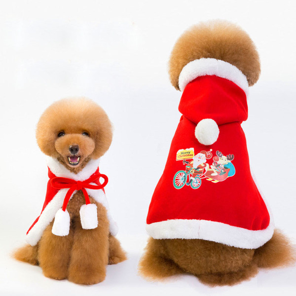 Fashion Christmas Cloak Pet Dogs Halloween Thick Cool Dog Apparel Red Festival Clothes Outdoor Coats Cheap Wholesale
