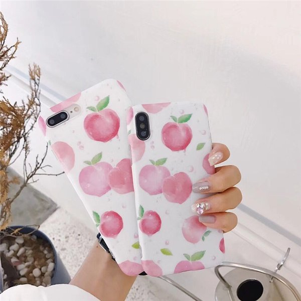 Hot Sell Soft TPU Imd Print Mobile Phone Cases For iPhone X 10 Honey Peach Pink Protective Shell Smart Phone Coque Funda Covers