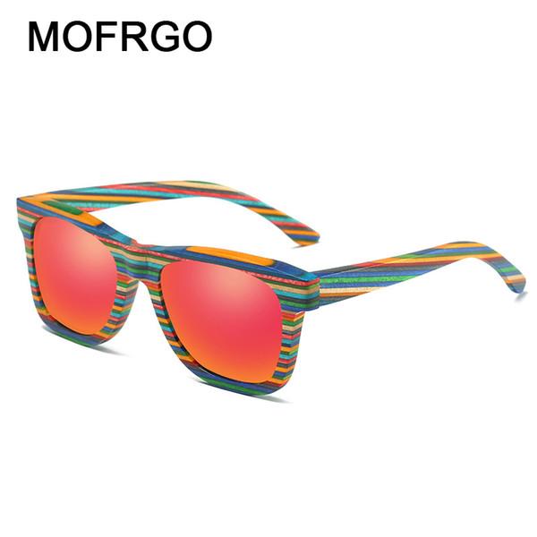 Zebra Wood Sunglasses Polarized Handmade Bamboo Women Sunglass Colorful Fashion Men Fishing Driving Eyewear Male Sun Glasses