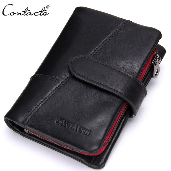 Trifold Leather Wallet Genuine Leather luxury wallet Casual Short designer Card holder pocket Fashion Purse wallets for men with gift box
