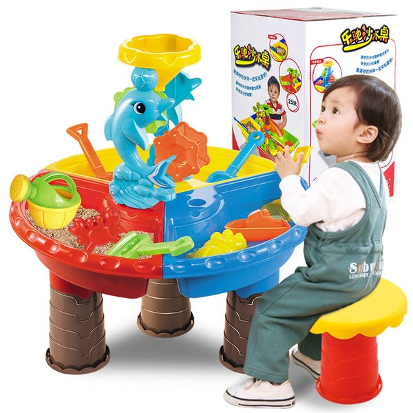 Children Sandy Beach Toys Table Play Basin Suit Tuba Baby Swimming Dredging Tool Play Sand Toys Sand Platform